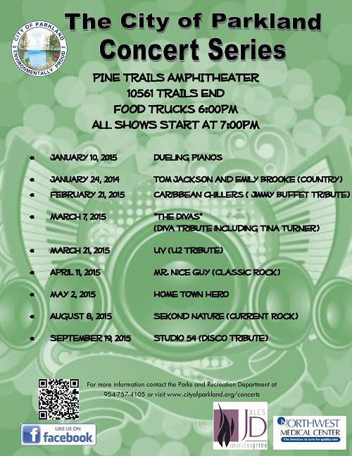 parkland outdoor concerts